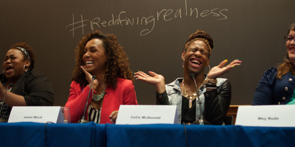 Barnard College celebrates Redefining Realness with Brittney Cooper Janet Mock CeCe McDonald photo by Aaron Tredwell