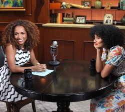 Janet Mock fills in for Larry King to interview Tracee Ellis Ross