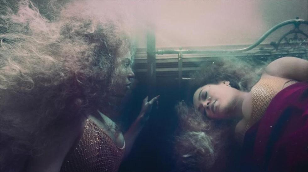Beyonce facing herself